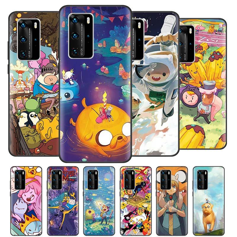 Funda Adventure Time Beemo Jake para Huawei P20 P40 Lite E P30 Pro P Smart Z Plus 2019, funda negra de silicona para teléfono