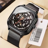 NESUN Men Mechanical Watch Stianless Steel Automatic Men\'s Watches Waterproof Mesh Sport Watch Relogio Masculino