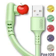USB-кабель из жидкого силикона 3A для быстрой зарядки iPhone 12 11 Pro Max X XS 12 Mini 6 6s 8 7 Plus iPad, шнур для передачи данных телефона, зарядное устройство для ...