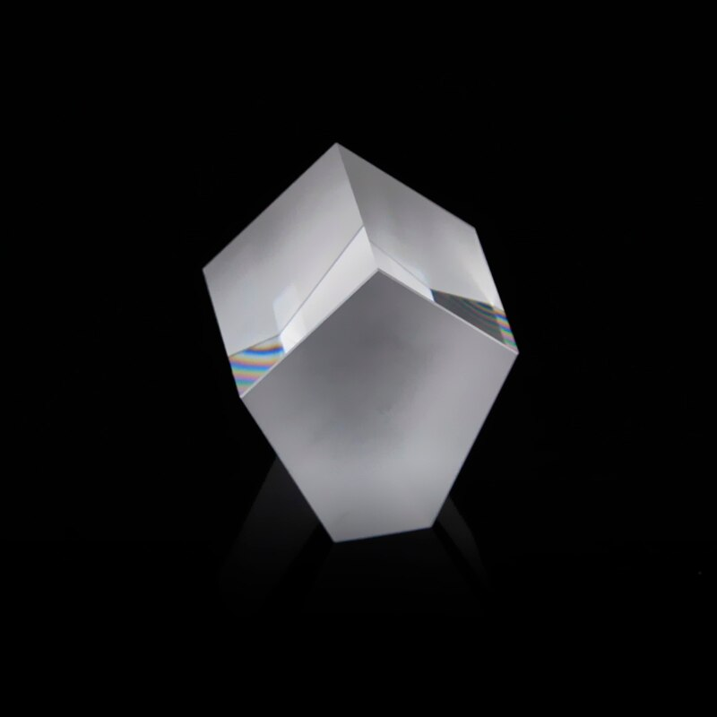 Prisma de ángulo recto pentaprisma de cristal óptico de 25mm, Prisma Pentagonal especial poligonal de espejo de 90 grados, Prisma penta-triangular