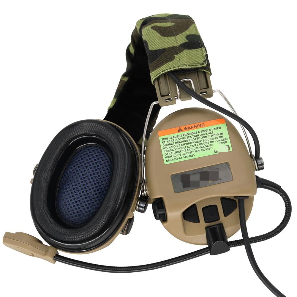 Tactical Softair Sordin Headset Noise Reduction Earphone Hunting Airsoft Headphone DE enlarge