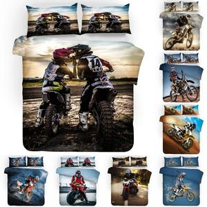 3d Lifelike Motorcycle Printing Duvet Bed Duvet Cover King Comforter Set High Quality Bed Linen Queen For Boys Adults Lovers