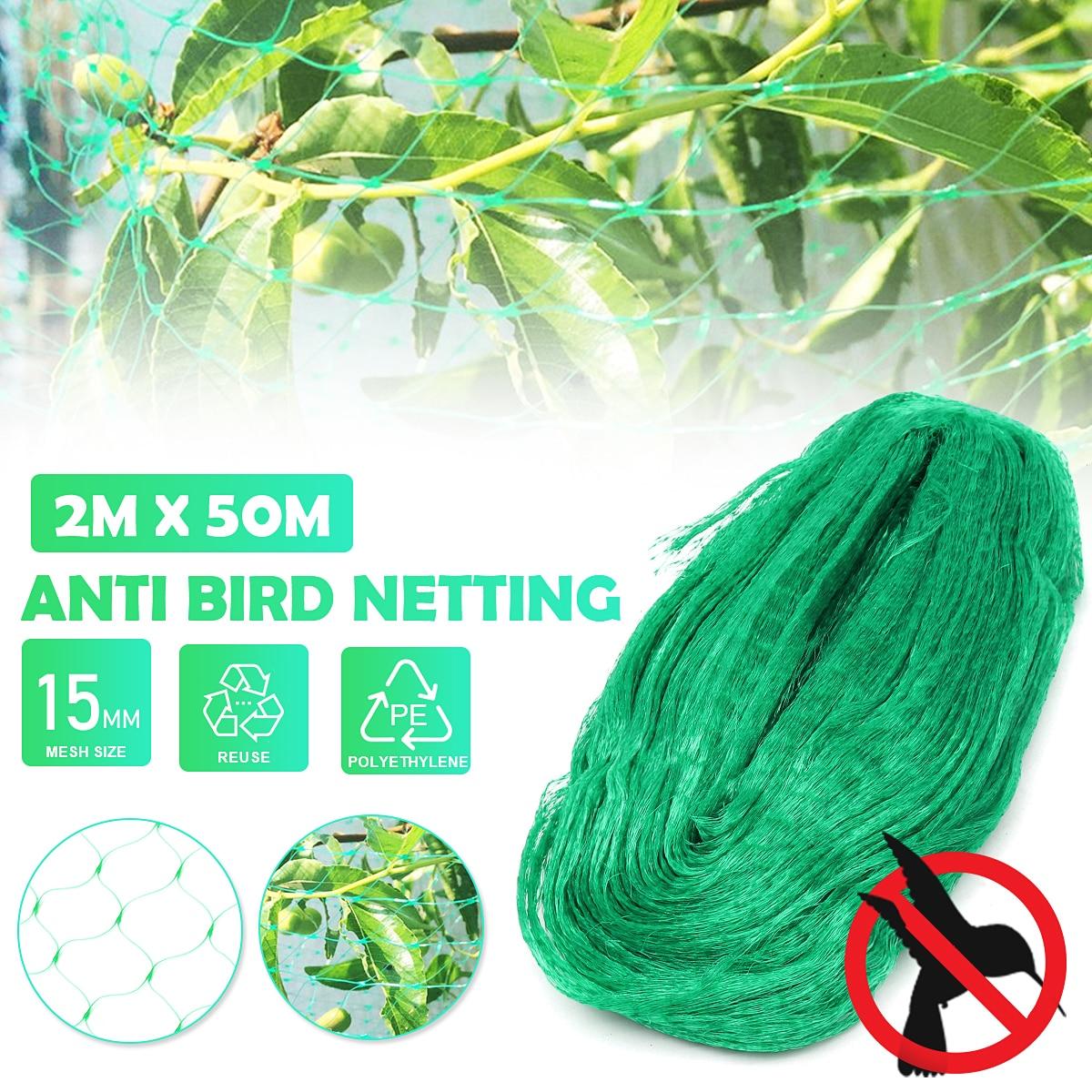 2x50m אנטי ציפור נקי בריכת רשתות הגנה פרדס גן חוות יבול צמח גידולי פירות עץ ירקות פרח גן Mesh להגן על