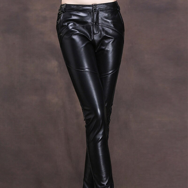 Comfortable Sheepskin Black Wide Leg Pants Women's 2021 Spring Real Leather Casual Capris Casual Female Wear