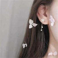 new sweet pink cherry blossom shell drop tassel earrings for women girls party fashion jewelry gifts tassel party earrings