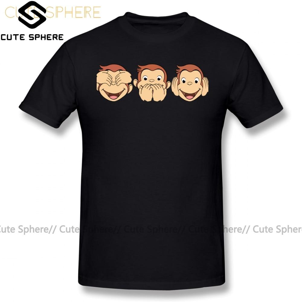 Camiseta de manga corta para hombre con estampado de dibujos animados y George, divertida camiseta Casual de algodón 6xl