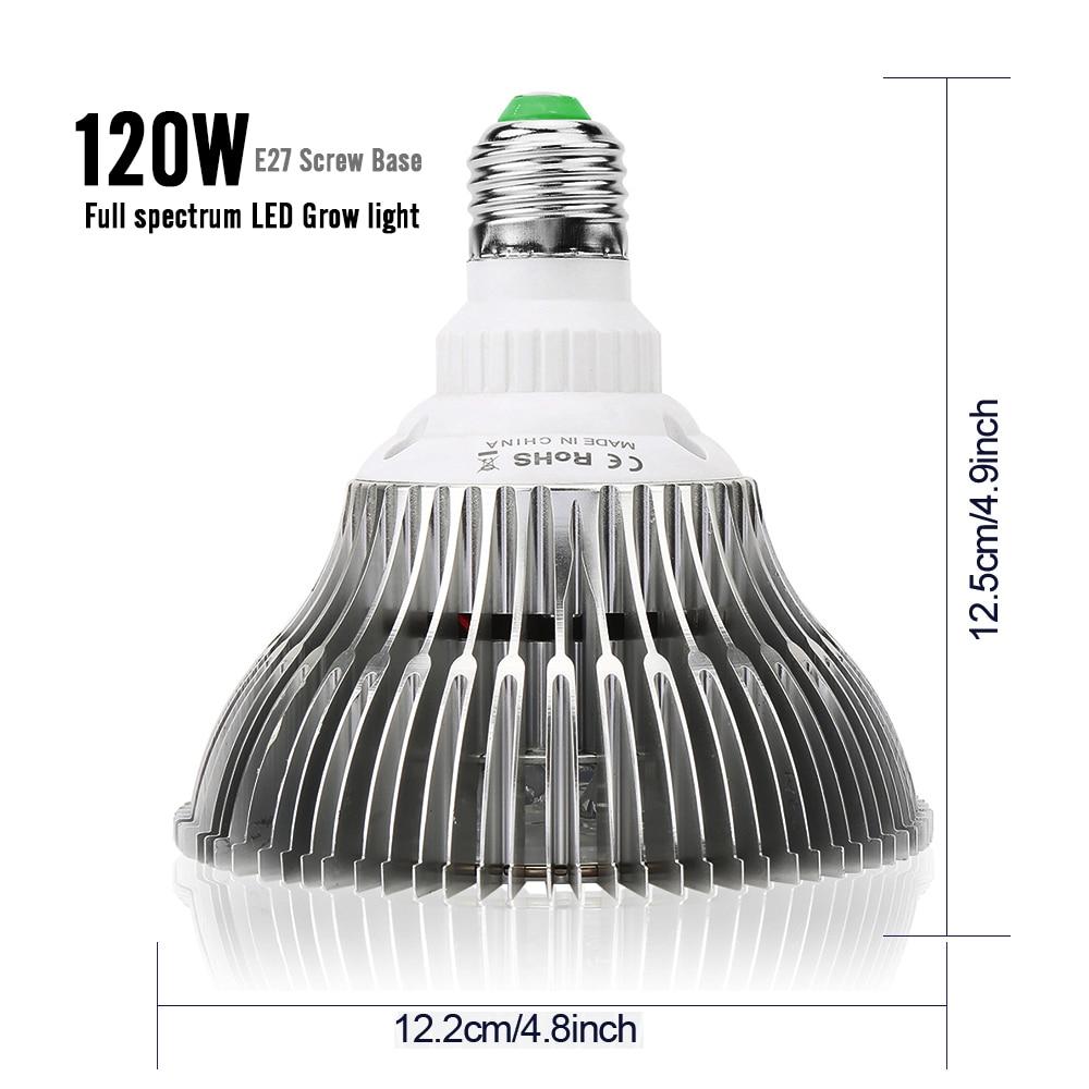 XRYL 10pcs CN DE RU US AU UK E27 120W Full Spectrum Hydroponic Indoor Vegetable Flower LED Plant Light Grow Bulb For Greenhouse enlarge