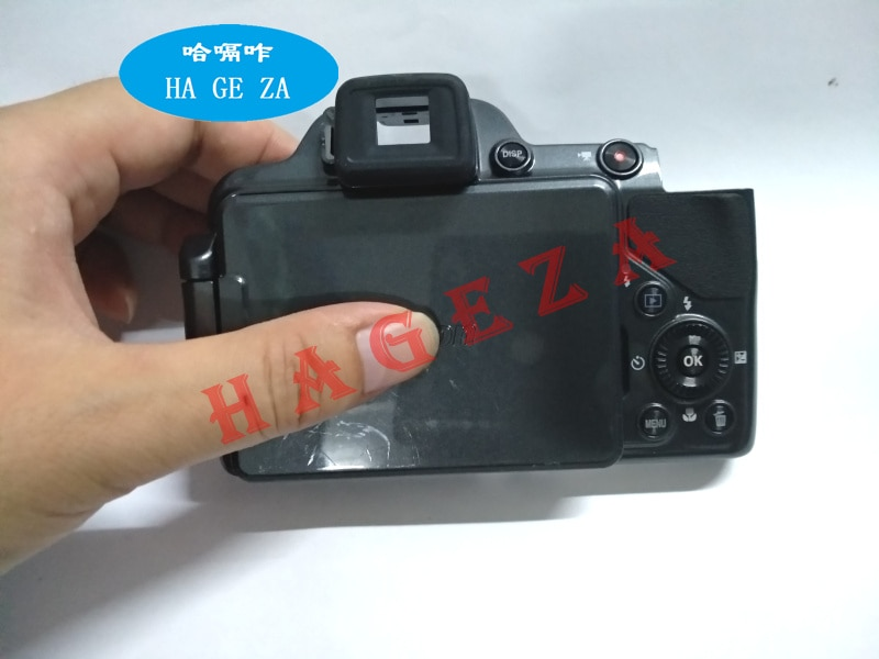 Original P520 grau abdeckung Für Nikon P520 abdeckung mit Welle flex mit schlüssel mit LCD Auge abdeckung taste kabel Kamera reparatur Teil 90% neue