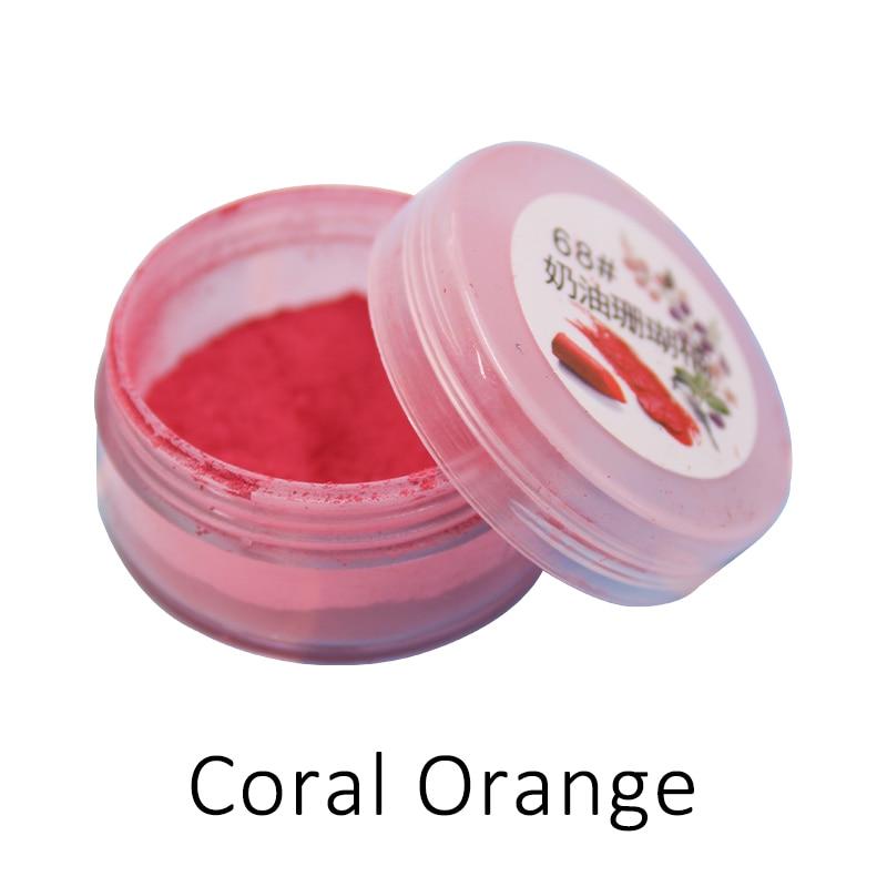 Lipstick Powder Coral Orange Pearl Pigment for DIY Lipstick,Cosmetics Shining Shadding Powder Acylic