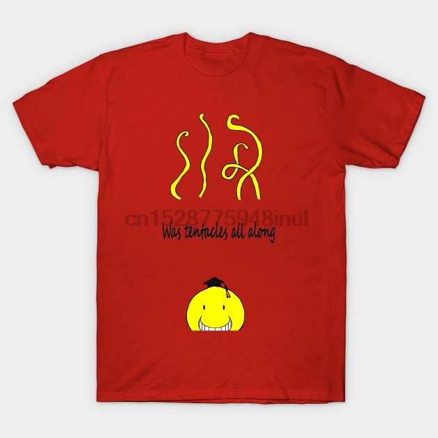 Camiseta de manga corta para hombre era tentáculos todo a lo largo de Assasination Classroom T Shirt mujer camiseta