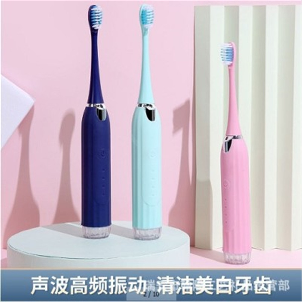 Electric 4in1 Toothbrush Teeth Whitening Cleaning Dental Tartar Scraper Tooth Polisher Stain Eraser High Frequency Vibration enlarge