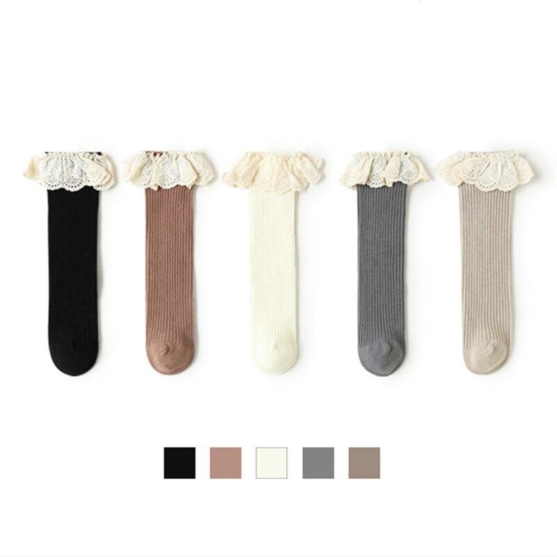 New Baby Girls Socks Long Socks Kids Knee Length Soft Cotton Baby Socks Kids 0-8 Years Knee High Soc