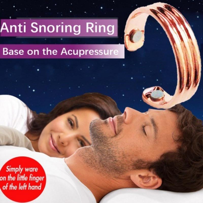 Акупрессура анти храп кольцо из титанового сплава лечение Рефлексология Анти Храп апноэ спящее устройство