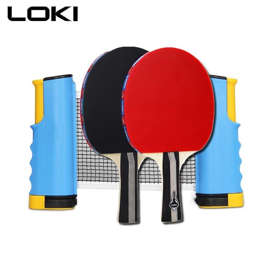 Профессиональные ракетки для пинг-понга, ракетки для настольного тенниса, ракетки для летучих мышей с выдвижной сеткой, расширенные домашн...