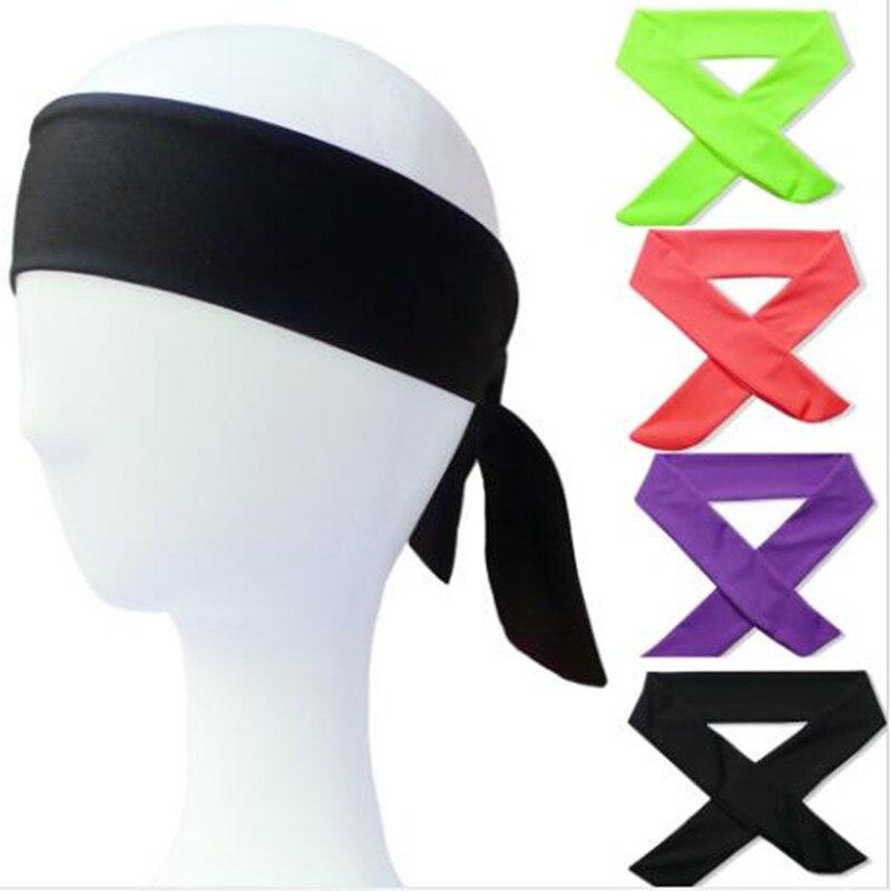 De algodón corbata diademas elástico deportes Sweatbands banda para el cabello de la humedad entrenamiento Wicking pañuelos corriendo hombres mujeres bandas
