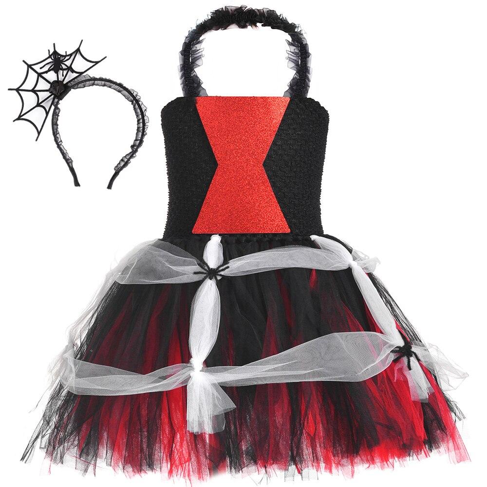 Новинка 2020 года; Модное платье-пачка с изображением паука для девочек; Маскарадные костюмы на Хэллоуин; Фатиновые детские карнавальные маск...