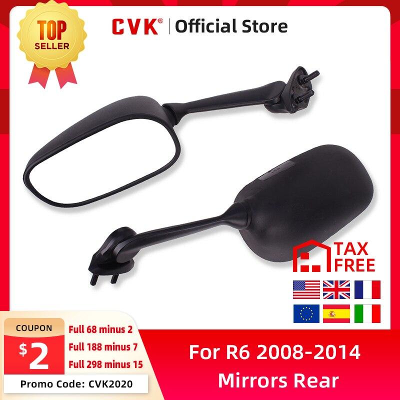 CVK espejos espejo retrovisor invertida para YAMAHA YZF600 YZF R6 2008, 2009, 2010, 2011, 2012, 2013, 2014, 2015 YZFR6 YZF-R6 08-15