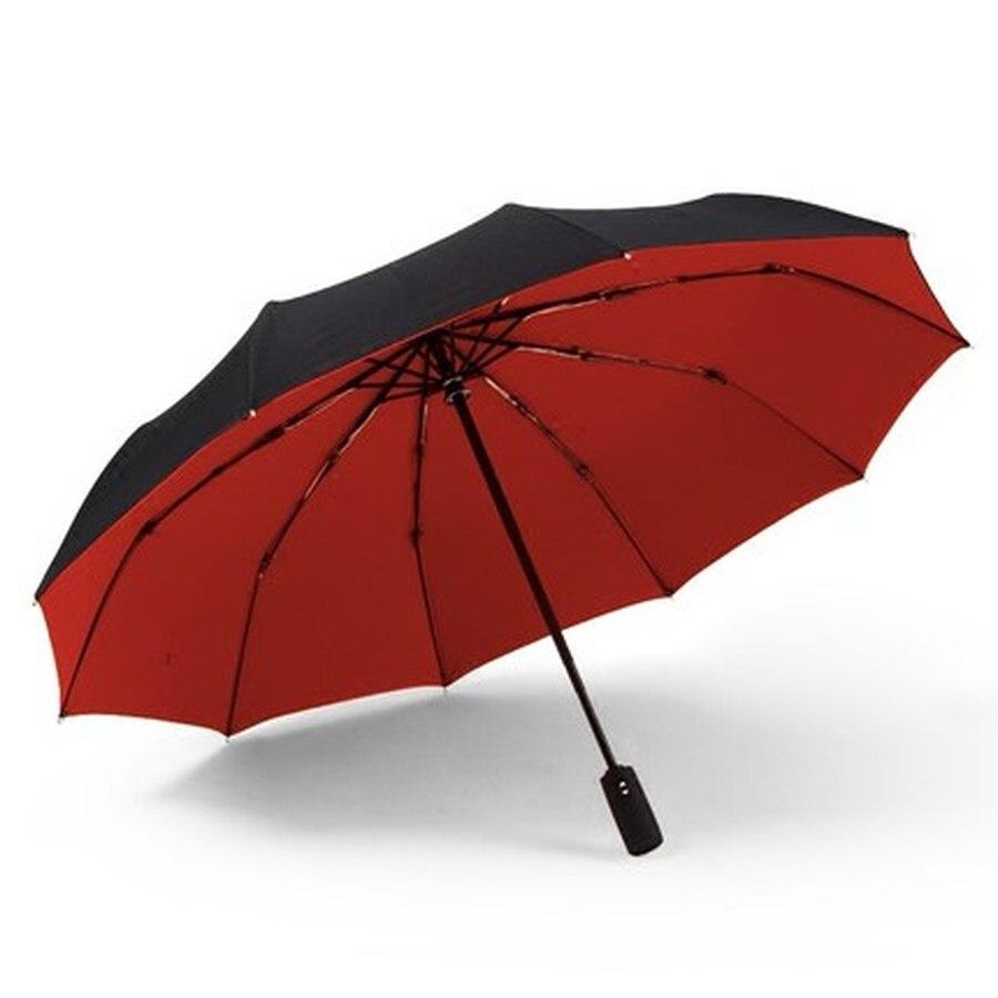 Creativo paraguas plegable automático a prueba de viento, paraguas de moda, sombrilla de negocios, sombrilla de Sol para hombres HH50YS