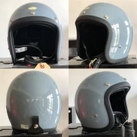 japanese style high quality motorcycle helmet cafe racer style open face helmet retro scooter jet motorbike riding capacete