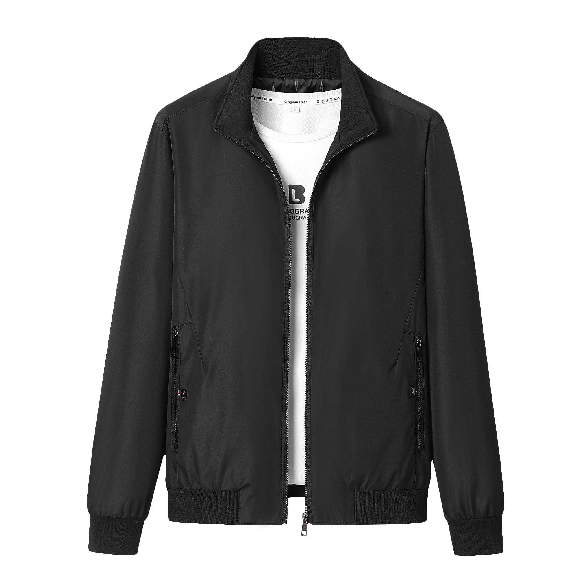 Мужская одежда, приблизительно 4XL 5XL 2021, осенняя новая мужская куртка-бомбер на молнии, мужская повседневная Уличная одежда, приталенное пал...