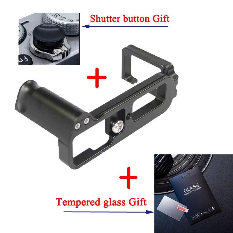 AYdgcam Pro Vertical L Type Bracket Tripod Quick Release Plate Base Grip Handle For Fujifilm XT10 XT20 XT30