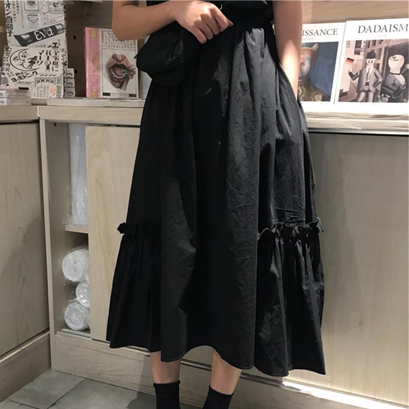 Otoño de mujer falda Vintage ropa faldas Harajuku verano alta cintura moda de calle 2020 de moda Flowy Elastic Chiffon