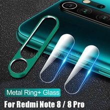 Vidrio Templado + anillo Protector de Metal para Xiaomi Redmi Note 8 Pro lente de cámara película de protección de seguridad para Note8 Protector de pantalla