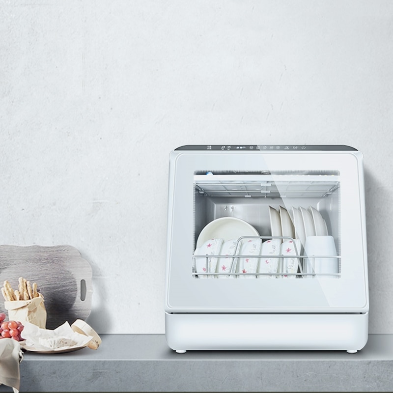 Dishwasher household small automatic desktop installation-free hot air drying disinfection cabinet