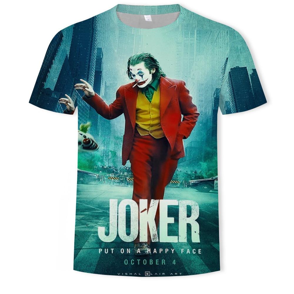 Joker joaquin phoenix harajuku engraçado t camisa dos homens 2019 novo branco casual homme legal antiherói hip hop tshirt streetwear
