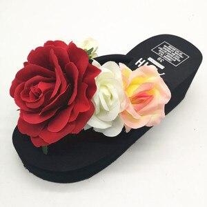 HAHAFLOWER New 2017 women flip flops Beach sandals fashion flower slippers summer women flats shoes woman flat sandals
