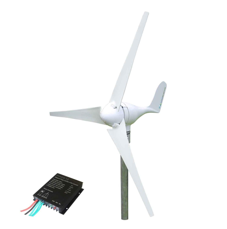 منخفض الضوضاء 450 واط 12 فولت 24 فولت 3/5 ألياف النايلون شفرات توربينات الرياح الأفقية مولد الطاقة مع تحكم 12 فولت 24 فولت
