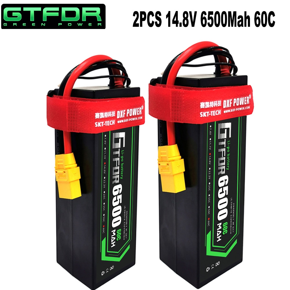 GTFDR lipo battery 2S 3S 4S 7.4V 11.1V 14.8V 8000mAh 6500mAh 60C 120C 110C 220C For 1/8 1/10 Buggy Sworkz RC Car Truck  Buggy enlarge
