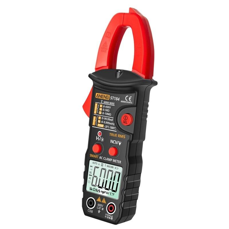 Contagens Digital Multímetro Profissional Braçadeira Medidor Rms Verdadeiro ac – dc Tensão Tester Atual hz Capacitância Ohm St184 6000
