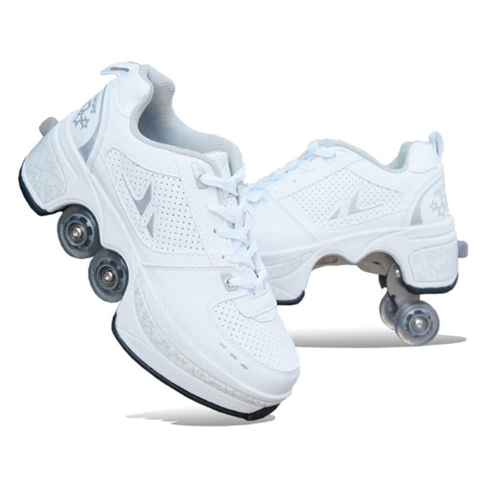 تشوه باركور أحذية أربع عجلات جولات من احذية الجري زلاجات دوارة أحذية للجنسين تشوه الأسطوانة أحذية أحذية التزلج