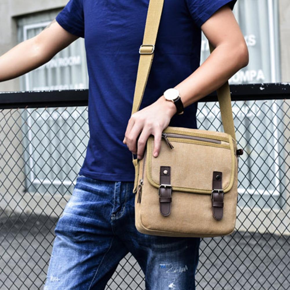 Bolso de mensajero de gran capacidad, bolso de hombro tipo bandolera, bolsa de lona de oficina, hebilla ajustable informal para hombres, tableta, ordenador portátil