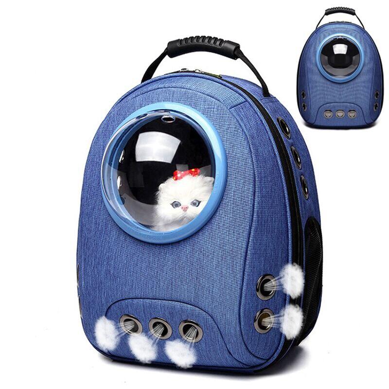Transportín para gatos, bolsa de viaje para cachorros, para senderismo al aire libre, cápsula espacial para mascotas, bolsa transpirable para transporte de gatos, bolso transpirable para perros