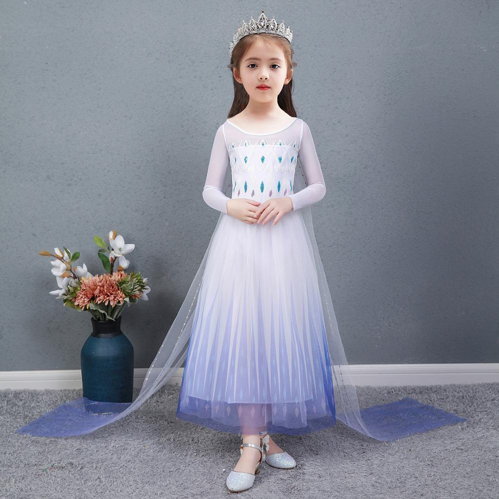 2020 natal princesa traje cosplay crianças vestido para a menina vestido de festa halloween formatura roupas conjunto vestidos de verano