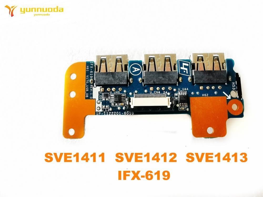 الأصلي لسوني SVE1411 SVE1412 SVE1413 USB مجلس الصوت مجلس SVE1411 SVE1412 SVE1413 IFX-619 اختبار جيد شحن مجاني