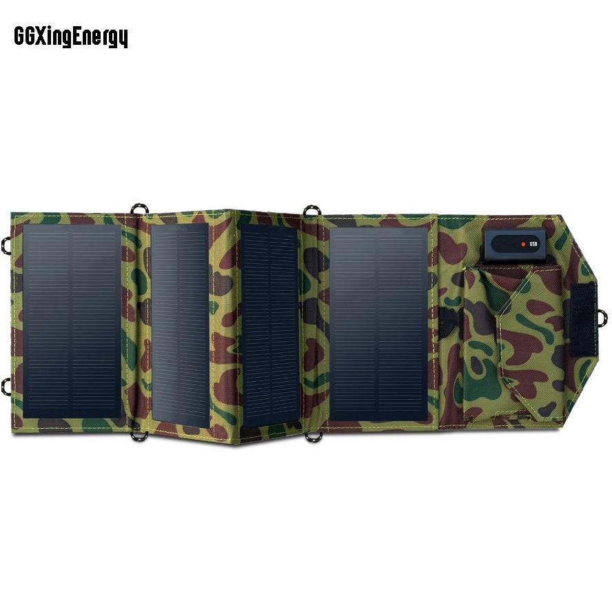 GGXingEnergy-شاحن محمول بالطاقة الشمسية ، 8 واط ، قابل للطي ، USB ، للهواتف المحمولة ، iPhone