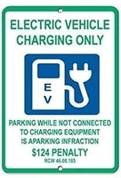 vintage metal sign 12 x 8 electric vehicle charging only signs art decor for coffee office pool yard sign wall decor