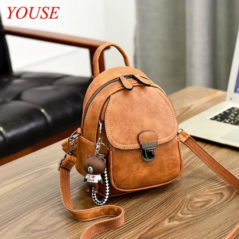 2021 المرأة موضة جديدة على ظهره حقيبة صغيرة بو الجلود مصمم ريترو حقيبة يد فاخرة USB حقيبة السفر