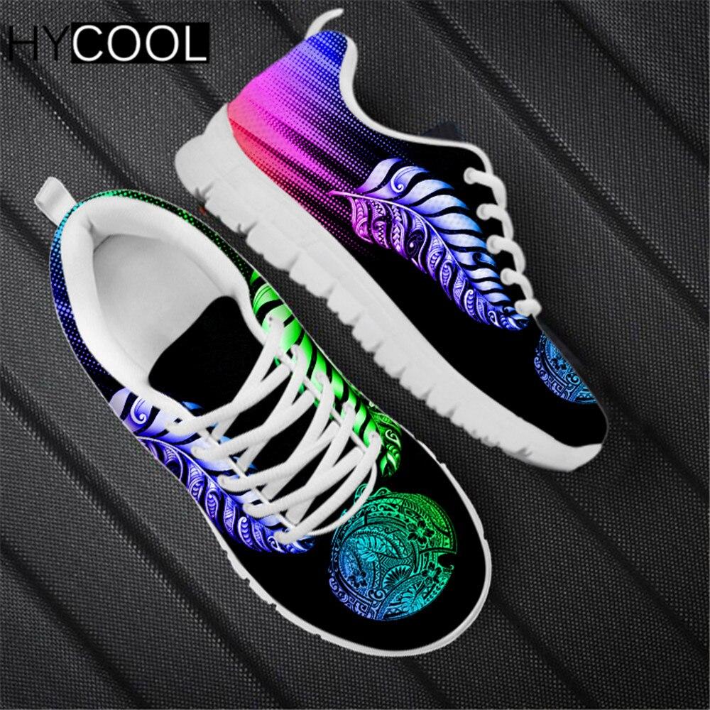 HYCOOL-Zapatillas deportivas de malla para mujer, Zapatos femeninos para correr, coloridos, con...