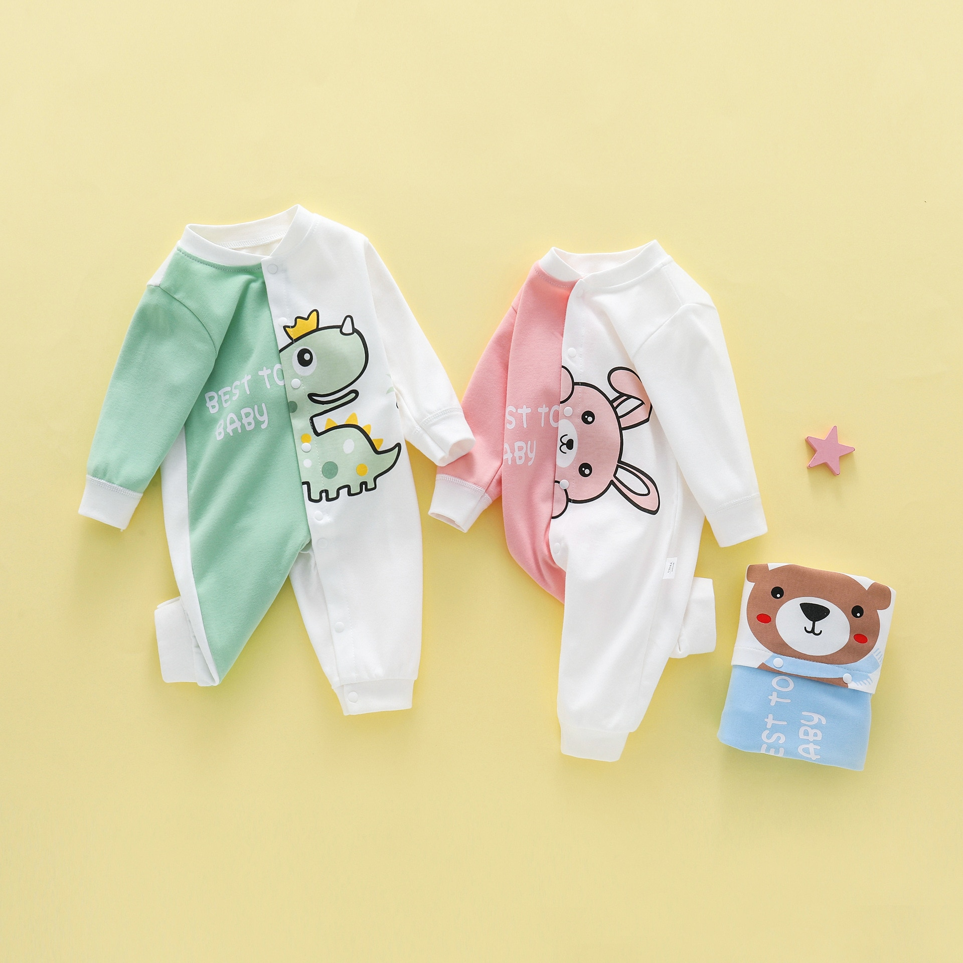 baby girl clothes autumn lattice knitted baby clothes newborn baby girl romper cotton baby cardigan sweater romper jumpsuit Baby Romper Spring Cotton Baby Clothes Cartoon Print Button Newborn Baby Jumpsuit Infant Boy Jumpsuit Girl Romper Overalls 2021