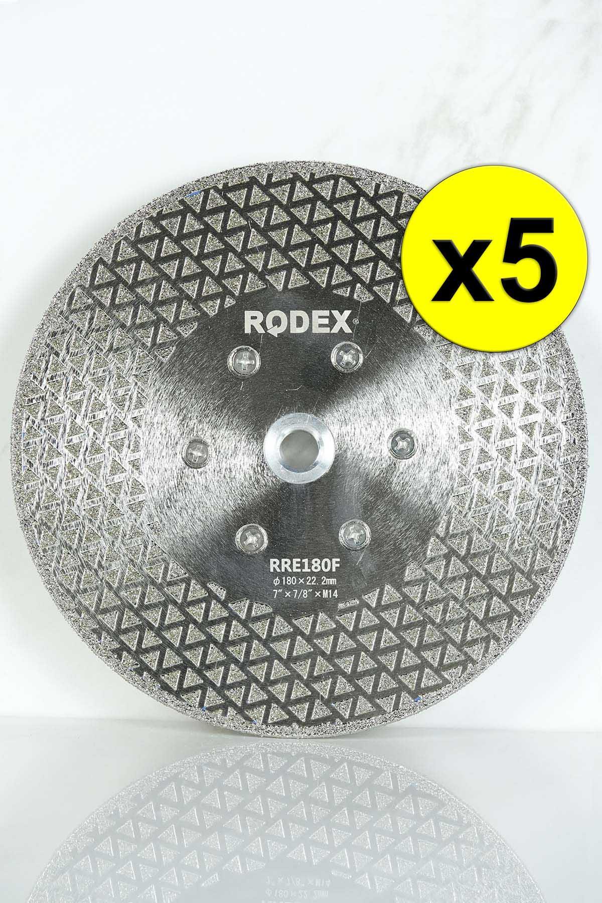 Rodex RRE180F Flanged Diamond Saw Blade for Marble, Granite, Porcelain 180mm 5 Pcs