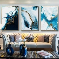 canvas painting wall art with frame blue abstract painting nordic posters prints poster modular canvas home minimalism bedroom