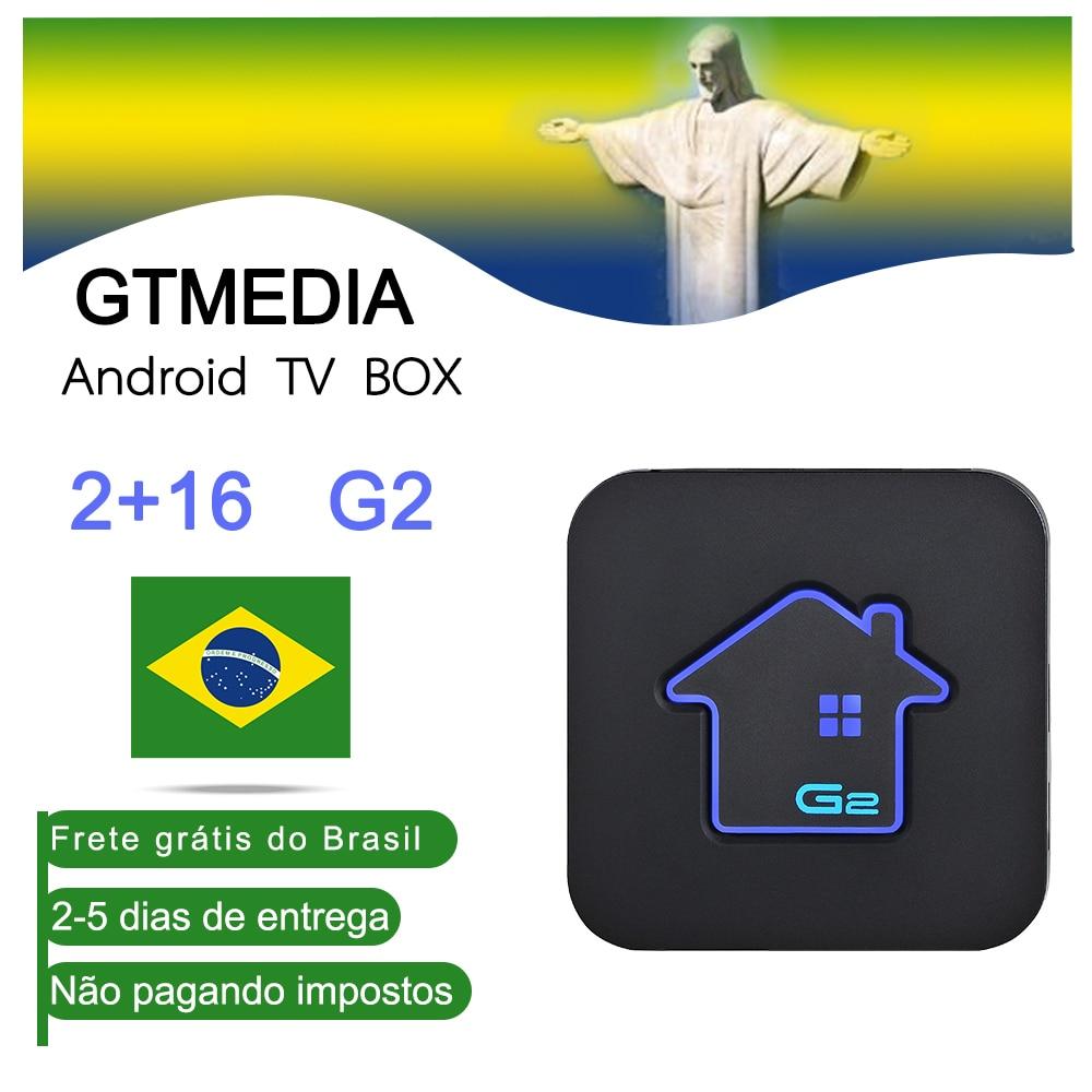 Gtmedia Android 7.1 CAIXA de TV Inteligente pk RK3229 2G DDR3 16G EMMC ROM Set Top Box 4K wi-fi media player iptv m3u play store brasil