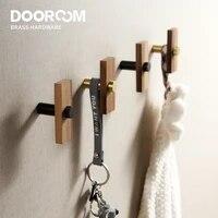 Dooroom     crochets muraux en laiton  en noyer  pour salle de bains  cuisine interieure  couloir  cintres pour vetements