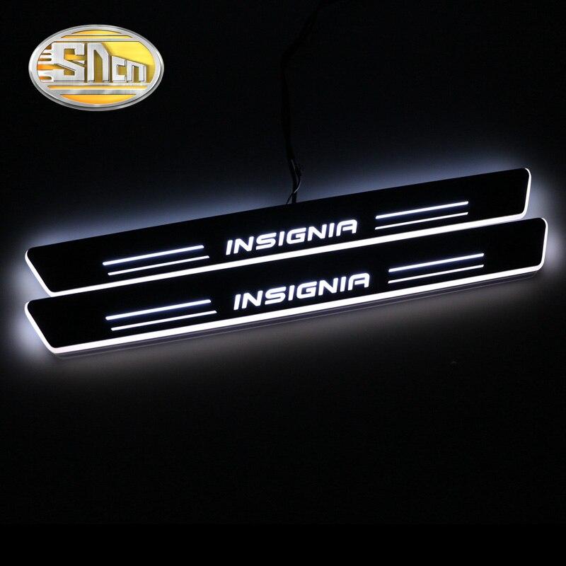 SNCN impermeable acrílico movimiento LED Bienvenido Pedal desgaste placa Pedal Umbral de puerta Luz de Camino para Opel Insignia 2013 2014 2015
