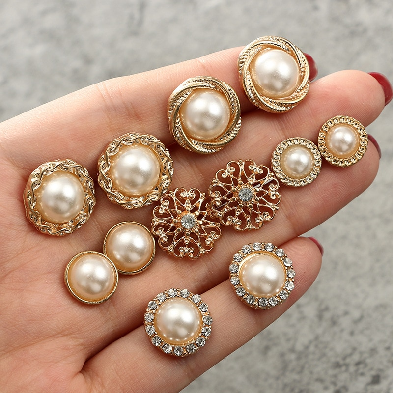 Pendientes coreanos de moda, pendientes Retro de perlas, juego de 6 piezas de perlas redondas, pendientes de flores de circonio para pendientes barrocos femeninos