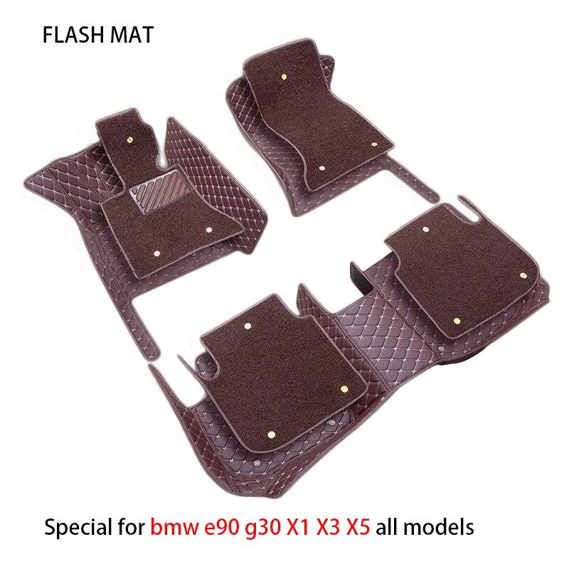 Coche especial alfombras de piso para bmw g30 e46 e90 f10 f11 f25 f30 f45 x1 x3 f25 x5 f15 e30 e34 e60 e65 e70 todos modelos de coche esteras
